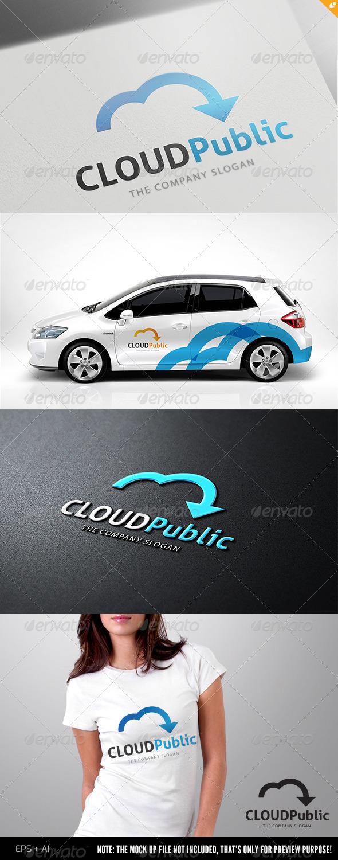 GraphicRiver Cloud Public Logo 4816191