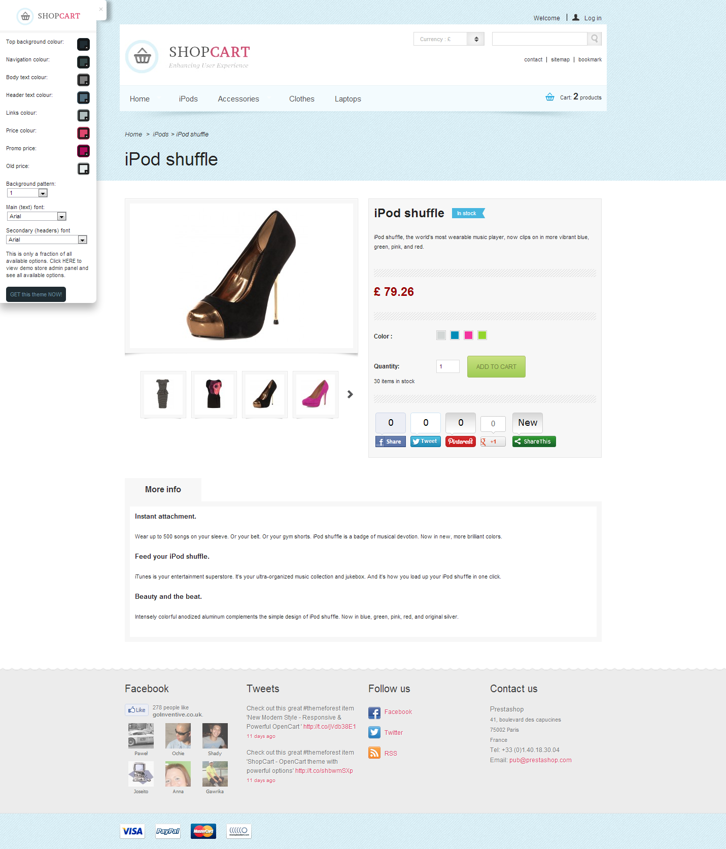 Shopcart Prestashop - Enhance User Experience!