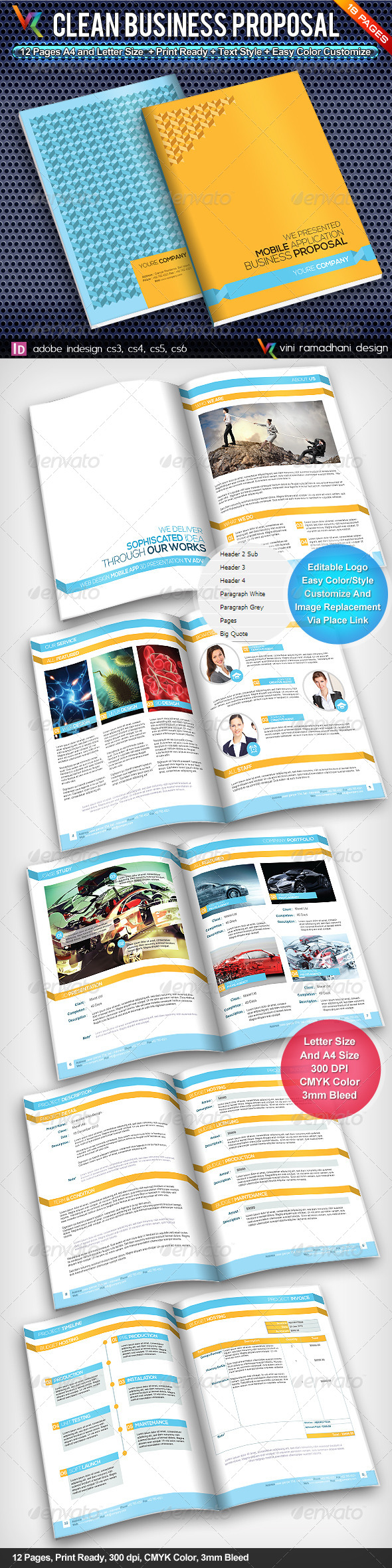 GraphicRiver Clean Business Proposal 4816842