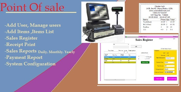 CodeCanyon Point Of Sale System POS 4809284