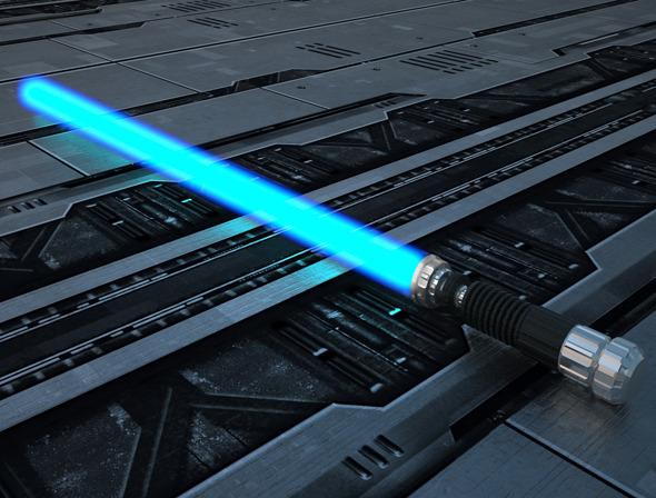 3DOcean Obi-Wan Kenobi LightSaber 4817078
