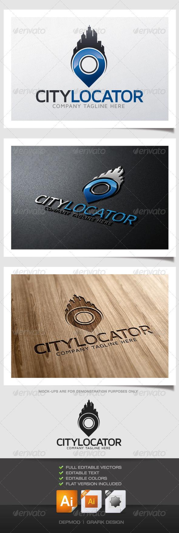 GraphicRiver City Locator Logo 4817087