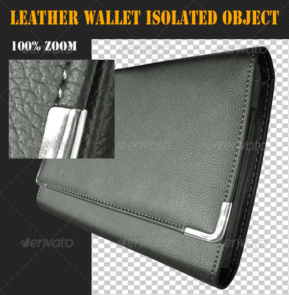 GraphicRiver Leather Wallet Isolated Object 4817139