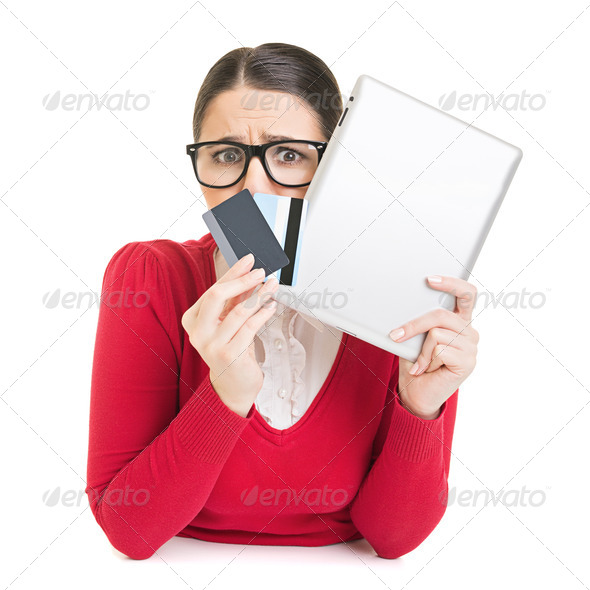 Online shopping addict - Stock Photo - Images