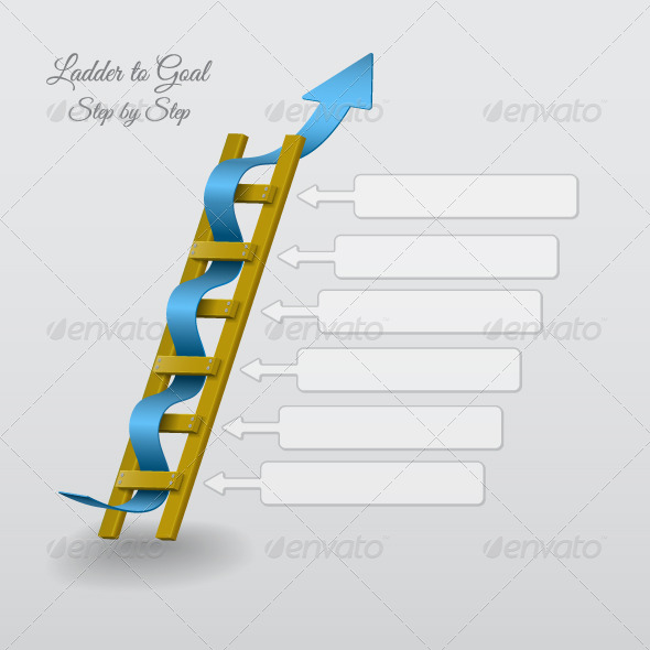 GraphicRiver Ladder to Goal Step by Step 4817163