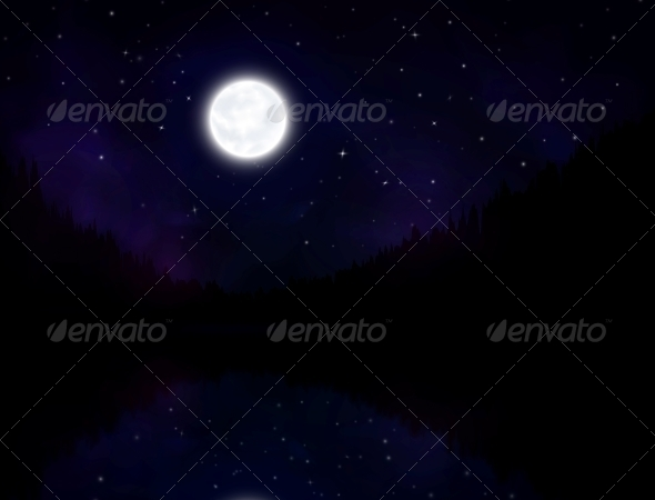 GraphicRiver Night Landscape 4817340