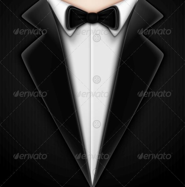 GraphicRiver Tuxedo with Bow Tie 4817346