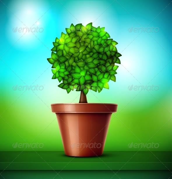 GraphicRiver Tree in Pot 4817355