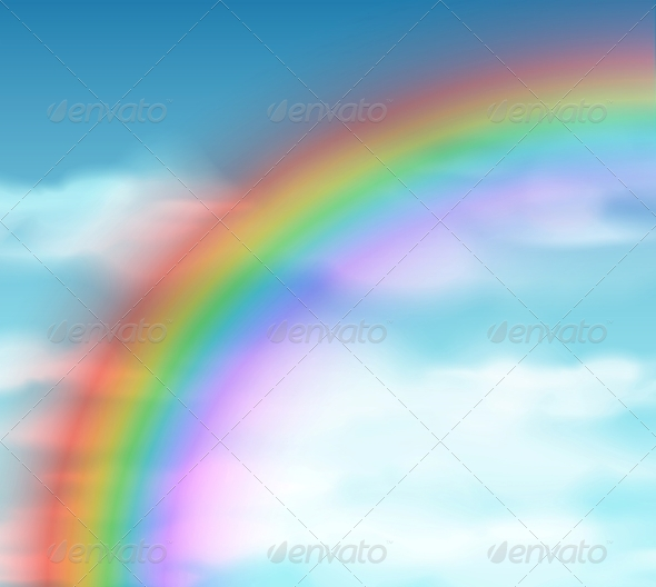 GraphicRiver Natural Background with Rainbow 4817426