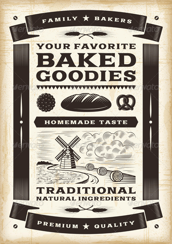 GraphicRiver Vintage Bakery Poster 4817698