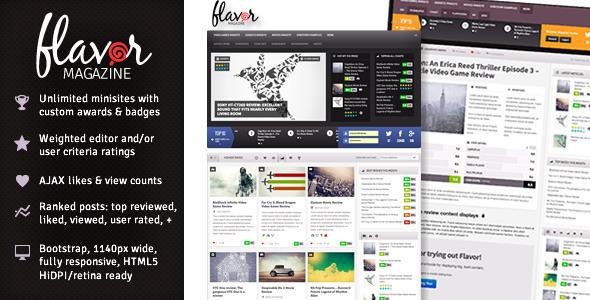 Flavor – Responsive/HD Magazine/Review AJAX Theme (Blog / Magazine) images