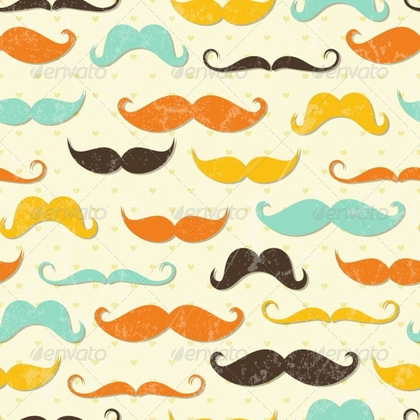 GraphicRiver Mustache Seamless Pattern 4817852