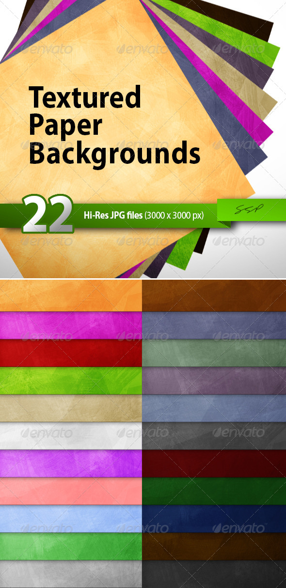 GraphicRiver 22 Hi-Res Paper Texture Backgrounds 4818244