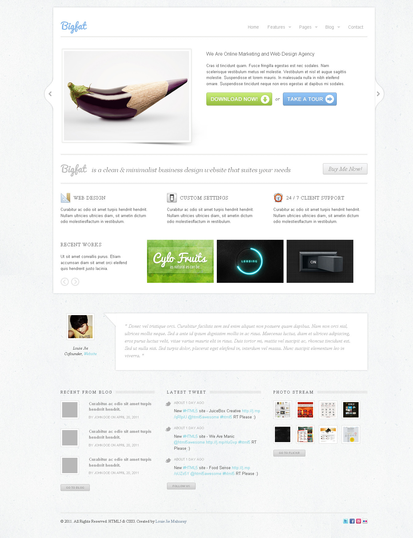 Bigfat - Business & Portfolio Template -