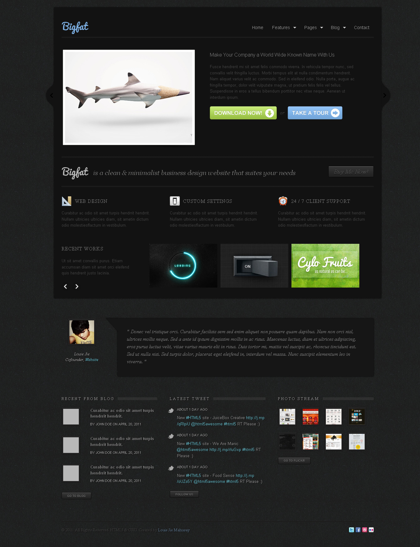 Bigfat - Business & Portfolio Template -