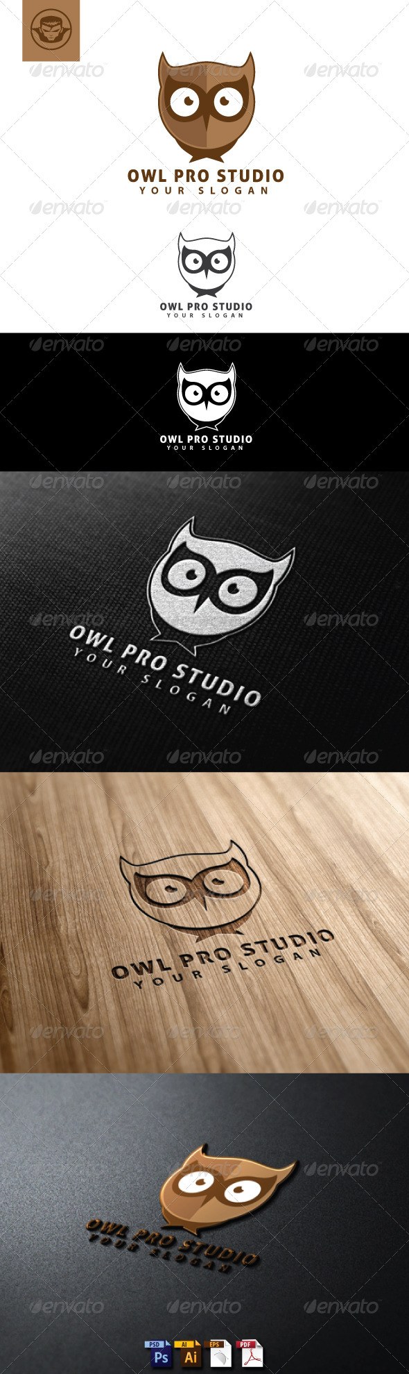 GraphicRiver Owl Pro Studio Logo Template 4818439