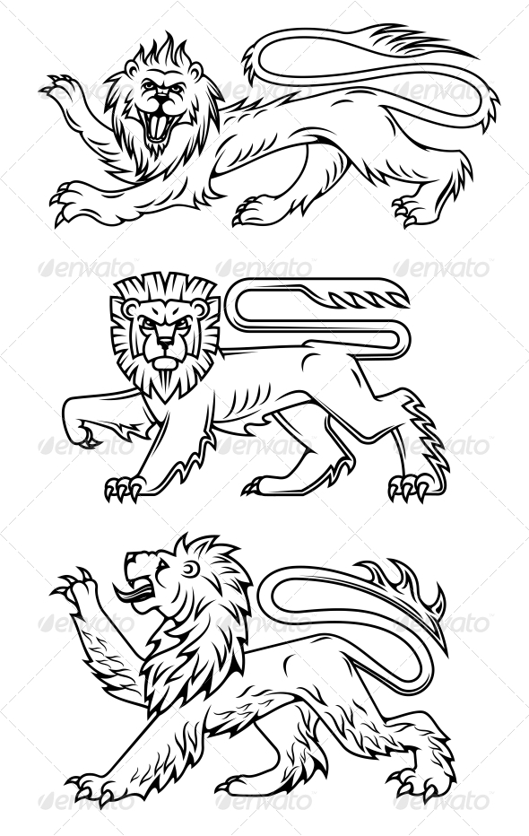 GraphicRiver Powerful Lions and Predators 4818445
