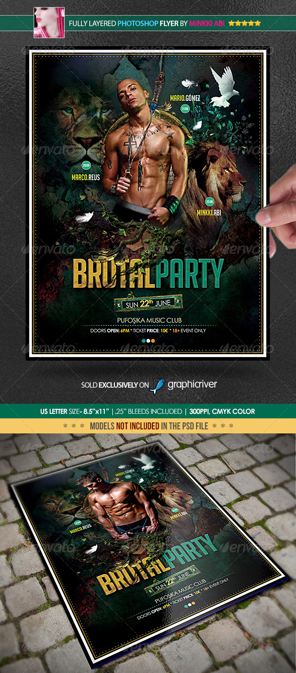 GraphicRiver Brutal Party Poster Flyer 4818581
