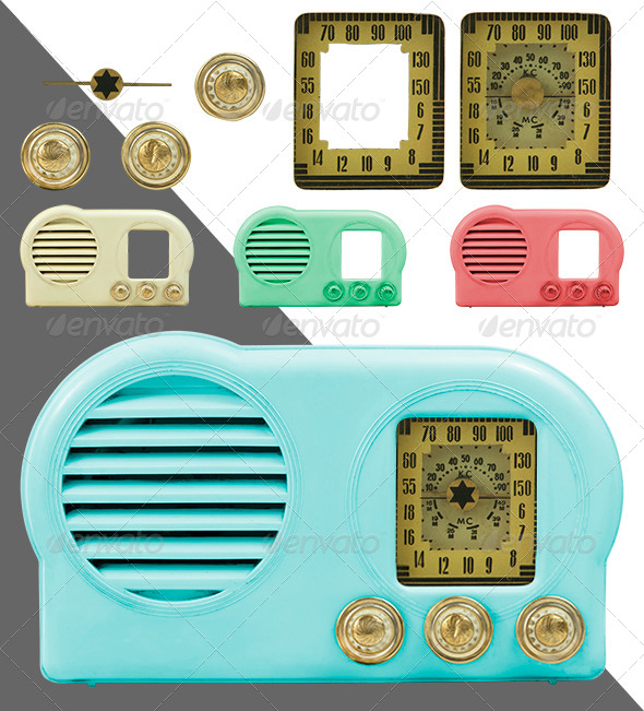 GraphicRiver Antique Bakelite Radio Parts 4819028