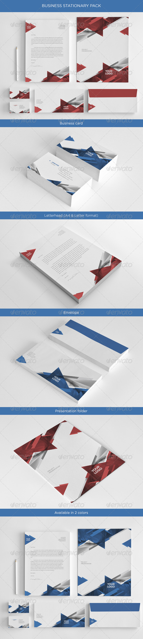 GraphicRiver Business Stationary Pack 4706850