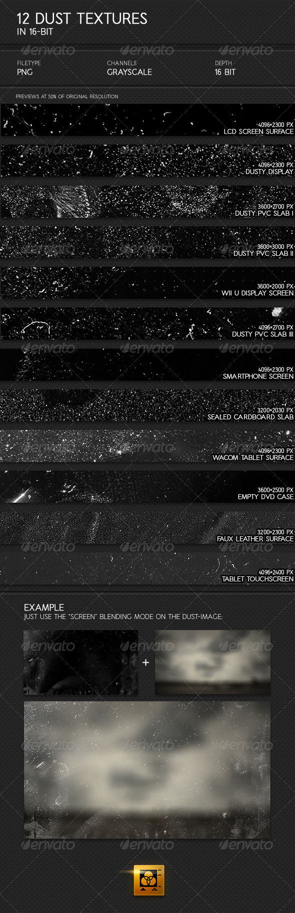 GraphicRiver 12 Dust Textures 4819195