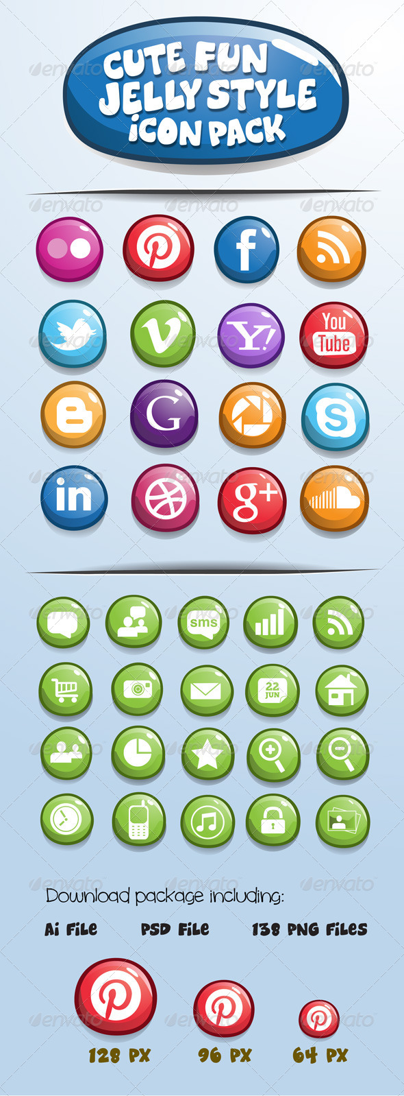 GraphicRiver Jelly Style Icon Pack 4819261