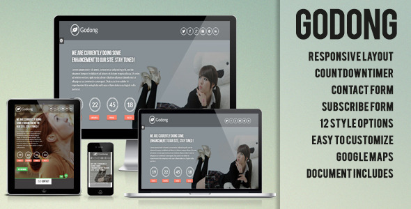 ThemeForest Godong Responsive Underconstruction Template 4819320