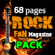 68 Pages Rock Fan Magazine Pack - GraphicRiver Item for Sale