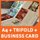 Download A3 + A4 Trifold Brochure + Business Card from GraphicRiver