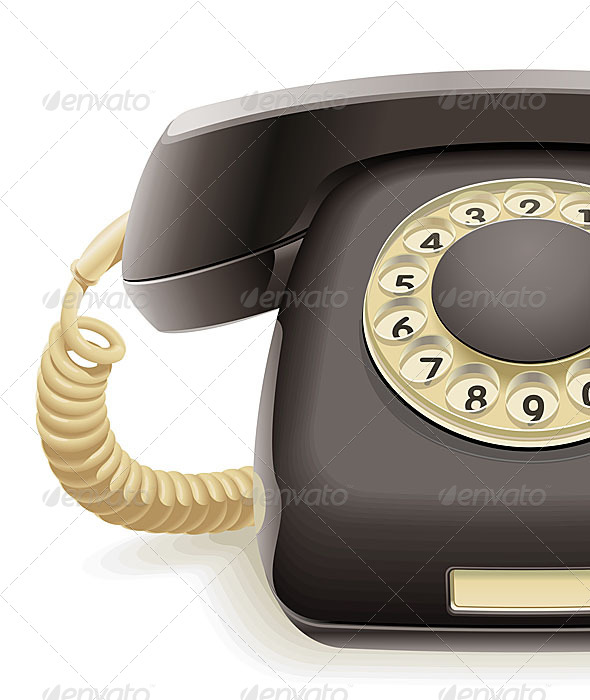 Old Black Phone - Retro Technology