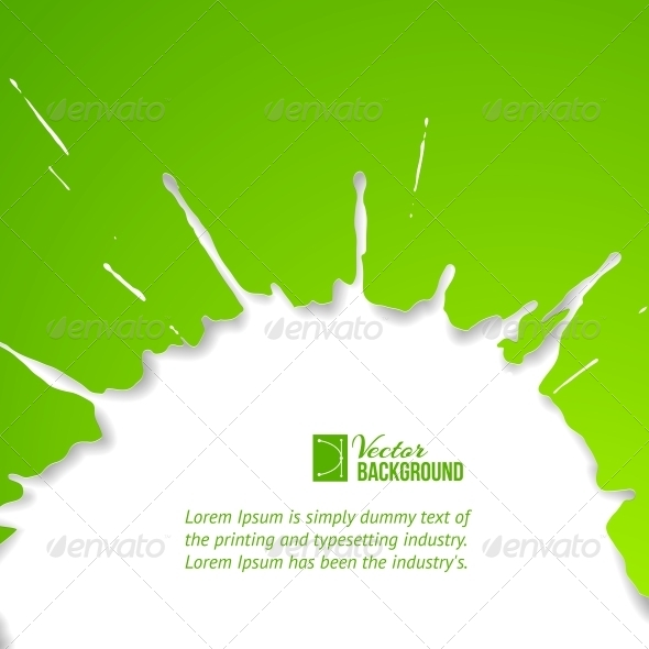 GraphicRiver Green Drop over White 4819387