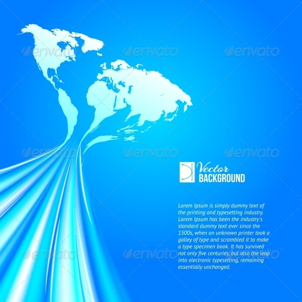 GraphicRiver World Map Technology Style 4819457
