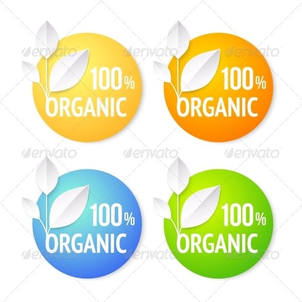 GraphicRiver Organic Plant Labels Set 4819468