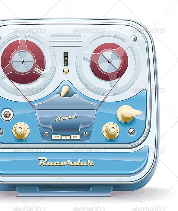 GraphicRiver Old Tape Recorder 4819966