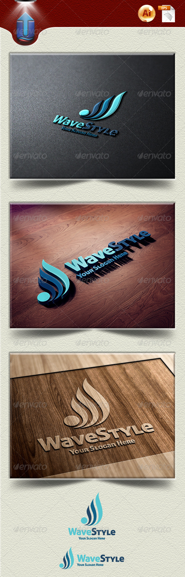 GraphicRiver Wave Style 4819988