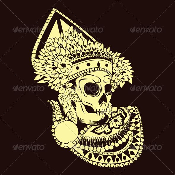 GraphicRiver Baris Skull Balinese Dances 4820262