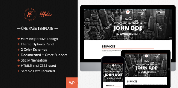 Fffolio - Responsive One Page portfolio - Portfolio Creative