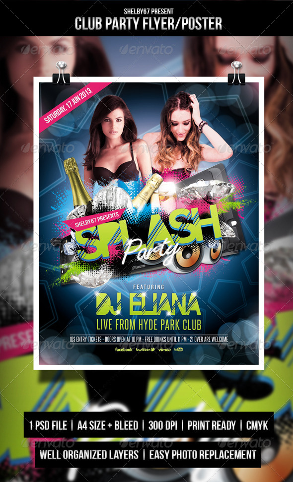 GraphicRiver Club Party Flyer Poster 4676362