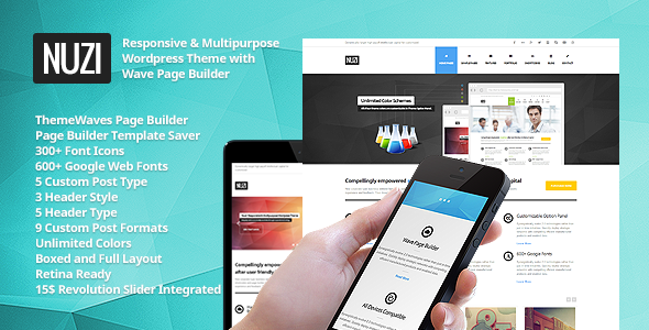 ThemeForest Nuzi Multipurpose Retina Ready Business Theme 4803183