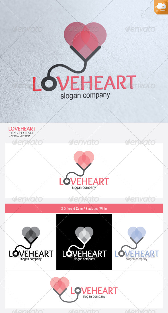 GraphicRiver Love Heart logo 4821059