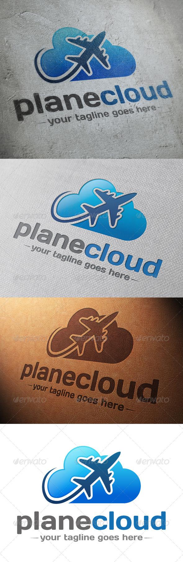 GraphicRiver Plane Cloud Logo Template 4821549