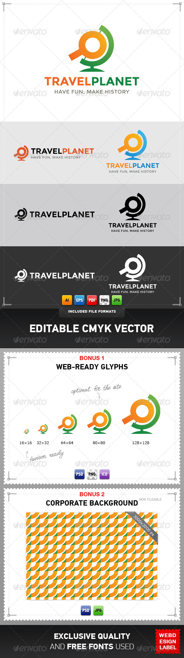 GraphicRiver Travel Planet Logo 4821719