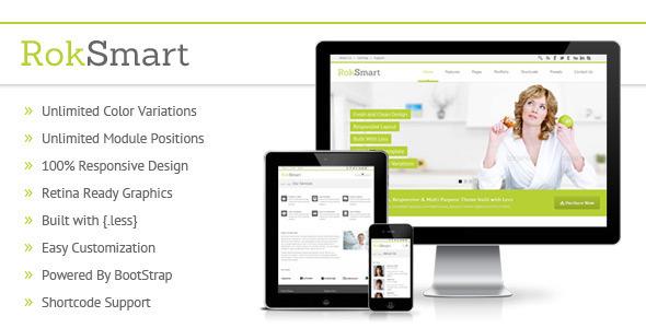 ThemeForest RokSmart Responsive Multi-Purpose Joomla Theme 4818254
