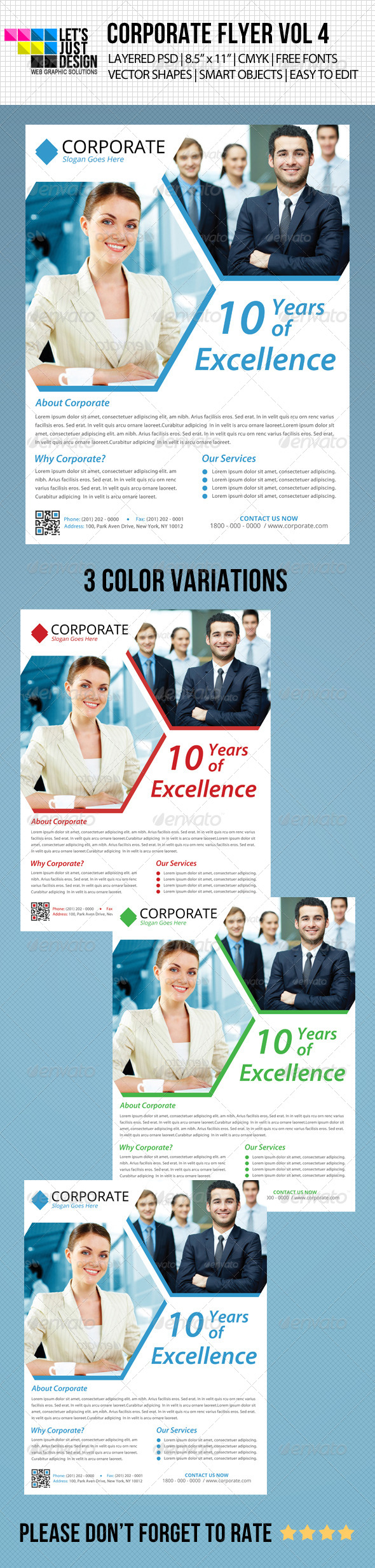 GraphicRiver Minimal Corporate Flyer Vol 4 4821890