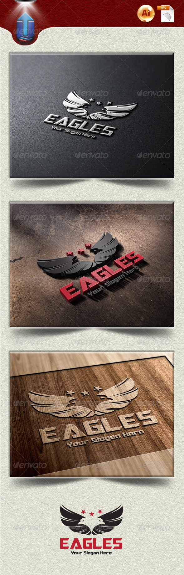 GraphicRiver Eagles Logo 4821891