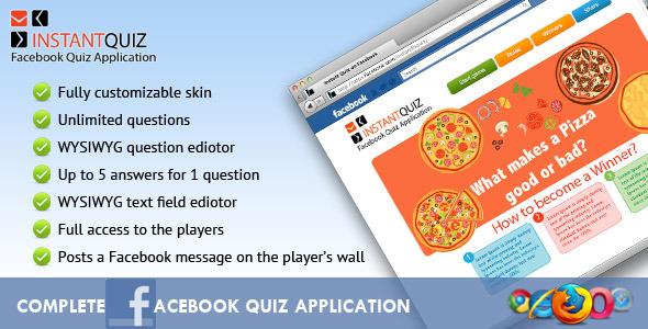 CodeCanyon - Instant Facebook Quiz Premium Application