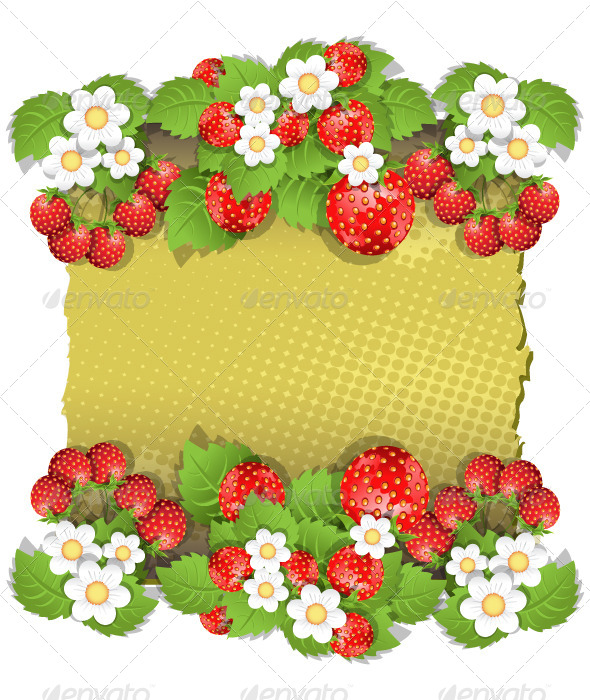 GraphicRiver Background with Strawberry 4822067