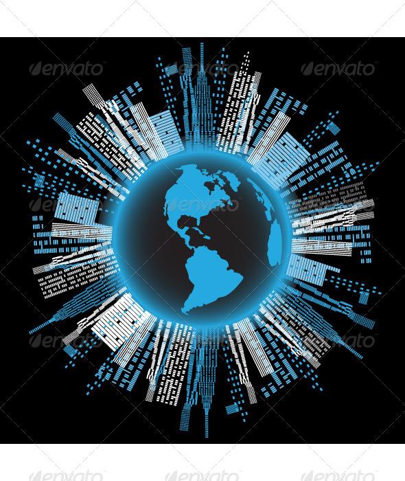 GraphicRiver Blue Planet 4822082