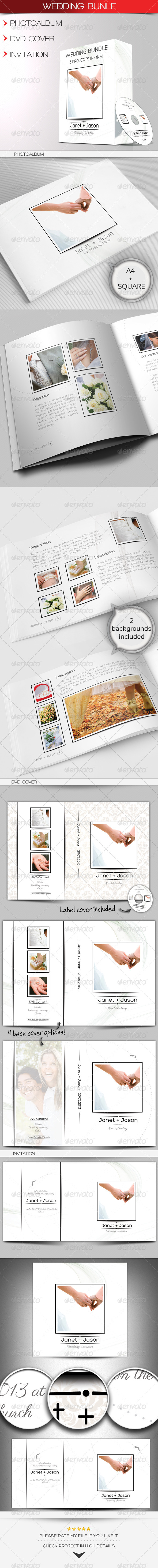 GraphicRiver Wedding Bundle 4822244
