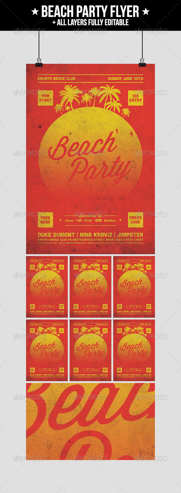 GraphicRiver Beach Party Flyer 4822247